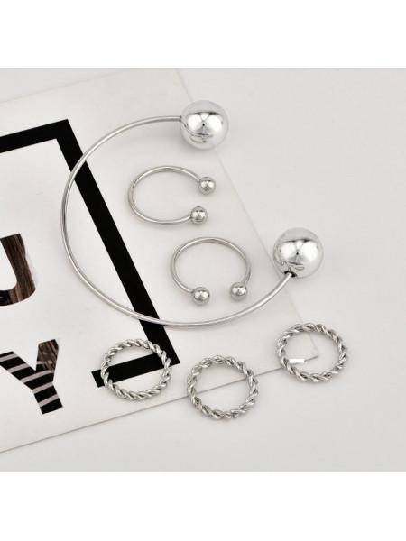 Zestaw pierścionków  Multi + bransoleta - srebro