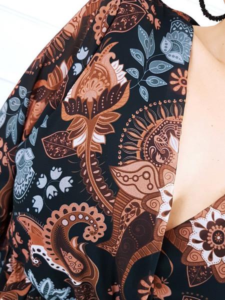 Szyfonowa sukienka w print LORI