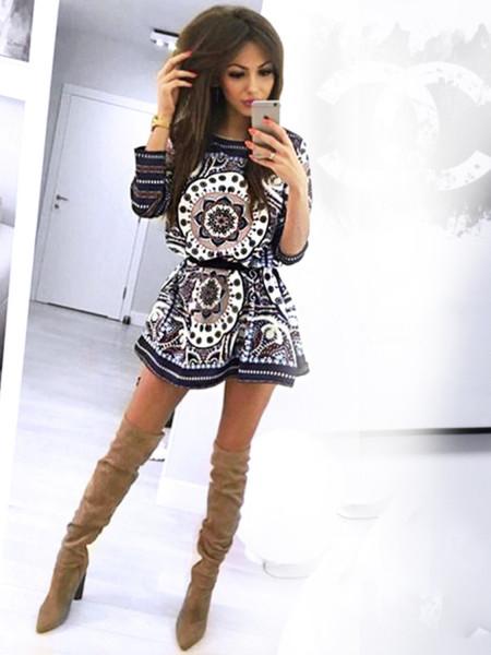 Rozkloszowana sukienka boho ARIANA