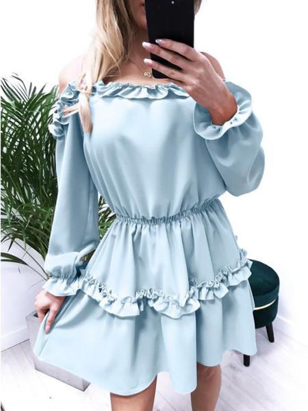 Kobieca mini sukienka z falbankami MARIETTA