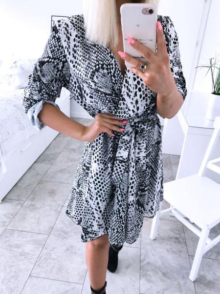 Rozkloszowana sukienka w zwierzęcy print MILLIE - wzór 2