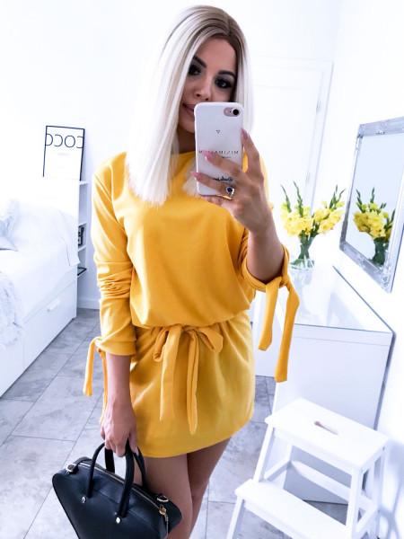 Sukienka wiązana w pasie ANNE