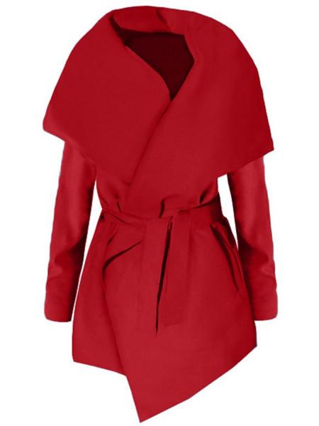 Flauszowy wiązany płaszcz BRIANNA
