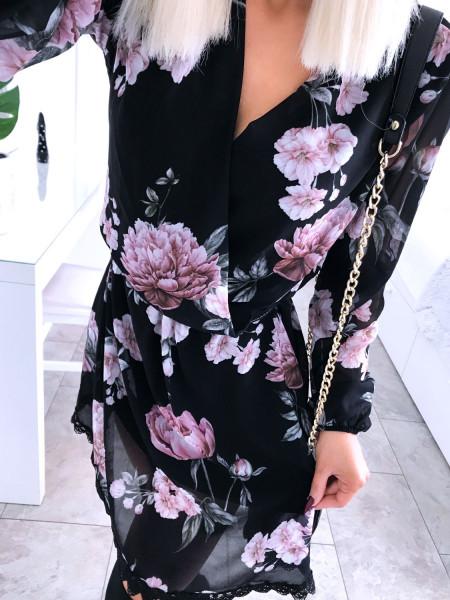 Rozkloszowana sukienka w print SAMIRA - wzór 1