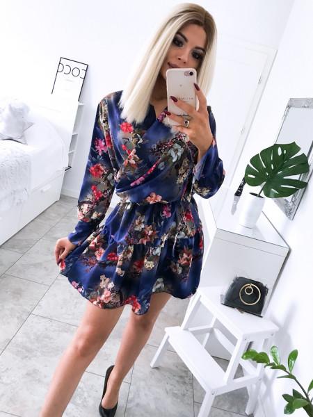 Rozkloszowana sukienka w kwiatowy print KATRIN - wzór 5
