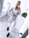 Sweterkowy kardigan Milena - Jasny beż