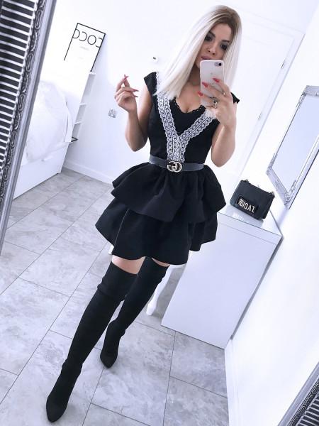 Sukienka z dekoltem na plecach - NATHALIE  - czerń