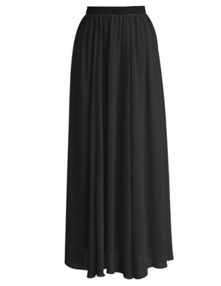 Długa szyfonowa spódnica