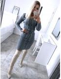 Dopasowana sweterkowa sukienka VANESSA - popiel