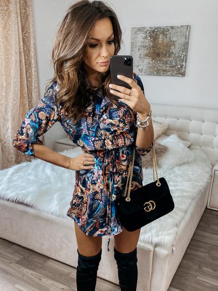 Sukienka mini szmizjerka -...