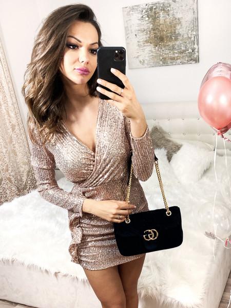 Cekinowa sukienka LOLA - złota