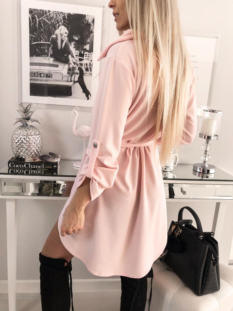 Kobieca sukienka szmizjerka JADE - puder