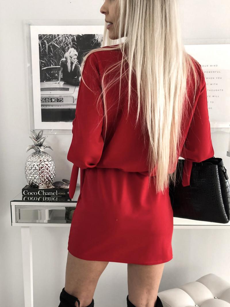 Sukienka mini z wiązaniem MARCJANNA -...