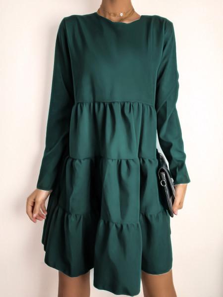 Trapezowa sukienka z...
