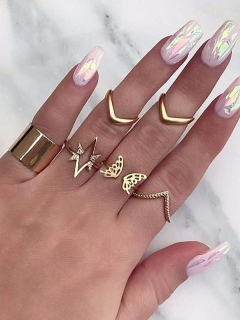 Zestaw 10 sztuk pierścionków - multi